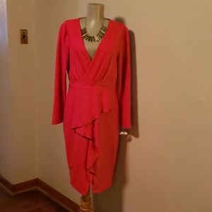 Rachel Roy Dianna Ruffled dress.  XL (Fits14/16)